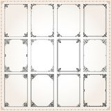 Decorative frames and borders rectangle proportions set 7 Stock Image
