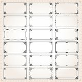 Decorative frames and borders rectangle 2x1 proportions set 4 royalty free illustration
