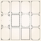 Decorative frames and borders rectangle proportions set 5 Stock Photo