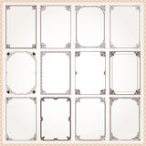 Decorative frames and borders rectangle proportions set 6 vector illustration