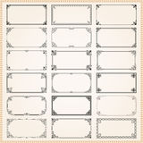Decorative frames and borders rectangle 2x1 proportions set 1 Royalty Free Stock Photos