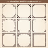 Decorative frames and borders stock illustration