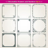 Decorative frames and borders set vector Stock Photography