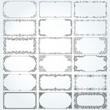 Decorative rectangle frames and borders set vector Royalty Free Stock Images