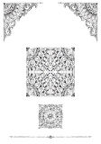 Decorative frames for cards, wedding invitations, menus, tattoo. Dotwork graphics, floral ornaments Stock Image