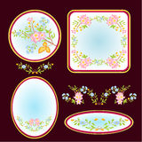 Decorative frames with floral pattern vector Stock Photos