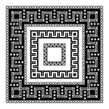 Decorative frames. Greek geometric pattern with flowers and leaves Royalty Free Stock Images