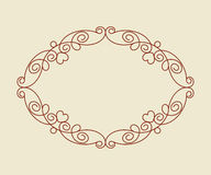 Decorative frames with heart .Vintage .Well built for easy editing.Vector illustration. Royalty Free Stock Images