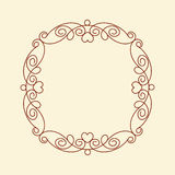 Decorative frames with heart .Vintage .Well built for easy editing.Vector illustration. Stock Image