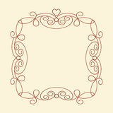 Decorative frames with heart .Vintage .Well built for easy editing.Vector illustration. Stock Photos
