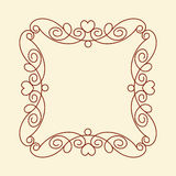 Decorative frames with heart .Vintage .Well built for easy editing.Vector illustration. Stock Images