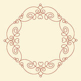 Decorative frames with heart .Vintage .Well built for easy editing.Vector illustration. Royalty Free Stock Photo