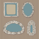 Decorative frames for images Royalty Free Stock Photos