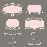 Decorative Frames and Ornaments. Illustration of decorative frames and ornaments Stock Image