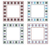 Decorative frames pack. Four decorative frames pack of different colors Vector Illustration