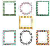 Decorative frames pack Stock Images