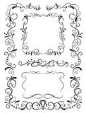 Decorative frames and pattern Royalty Free Stock Photo