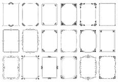 Free Decorative Frames. Retro Ornamental Frame, Vintage Rectangle Ornaments And Ornate Border Vector Set Royalty Free Stock Photos - 152208988