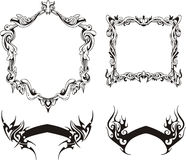 Decorative frames and ribbons Stock Photography