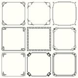 Decorative frames set 45. Available in high-resolution and several sizes to fit the needs of your project Stock Images