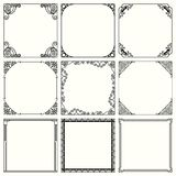 Decorative frames set 47. Available in high-resolution and several sizes to fit the needs of your project Stock Photo