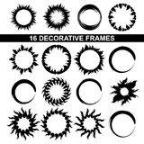 Decorative frames. Set of black and white decorative frames Royalty Free Stock Photography