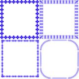 Decorative frames set for graphic design projects Royalty Free Stock Photos