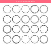 Decorative frames 20 set. Vector illustration of Decorative frames 20 set Royalty Free Stock Image
