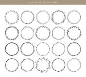 Decorative frames 20 set. Vector illustration of Decorative frames 20 set Royalty Free Stock Images