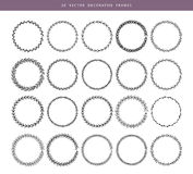 Decorative frames 20 set. Vector illustration of Decorative frames 20 set Stock Images