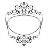 Decorative  frames .Vector illustration.Black  white . Stock Photo
