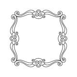 Decorative  frames .Vector illustration. Black white . Royalty Free Stock Photo