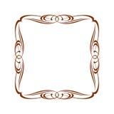Decorative  frames .Vector illustration. Brown white . Stock Image