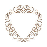 Decorative  frames .Vector illustration. Brown white . Royalty Free Stock Image