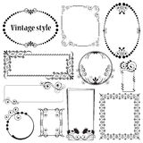 Decorative frames in vintage style Royalty Free Stock Photo
