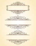 Decorative frames .Vintage .Well built for easy editing. Brown Royalty Free Illustration