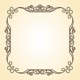 Decorative  frames .Vintage .Well built for easy editing. Stock Photo