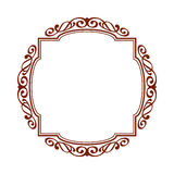 Decorative frames .Vintage .Well built for easy editing.Vector illustration. Royalty Free Stock Image