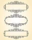 Decorative  frames .Vintage .Well built for easy editing. Royalty Free Stock Photo