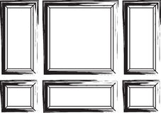 Decorative frames for walls and background Stock Photos