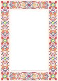 Decorative framework 09. Stained-glass window colored ornament mosaic pattern Stock Photo