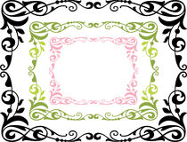 Decorative framework. The vector drawing of a decorative floral frame Royalty Free Stock Photos
