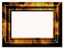 Decorative framework for a photo. With the image a flame Stock Photography
