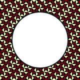 DECORATIVE FRAMEWORK. OF TRIANGLES. Abstrakt.n Royalty Free Stock Photo