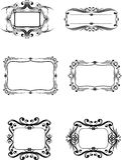 Decorative frameworks. Vector image of various decorative frameworks Stock Photography