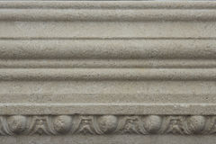 Decorative frieze. Small fragment of decorative architectural element for home Stock Photo