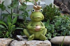 Decorative Frog in garden Stock Photos