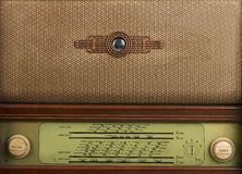 Decorative front panel of an old radio Stock Photo