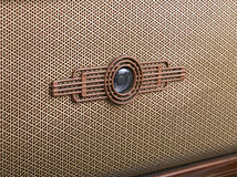 Decorative front panel of an old radio Royalty Free Stock Images