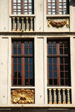 Decorative frontage around windows Royalty Free Stock Photography